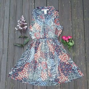 Collared Sleeveless Dress